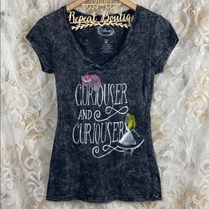 Disney Alice & Wonderland Curiouser Fitted T Shirt